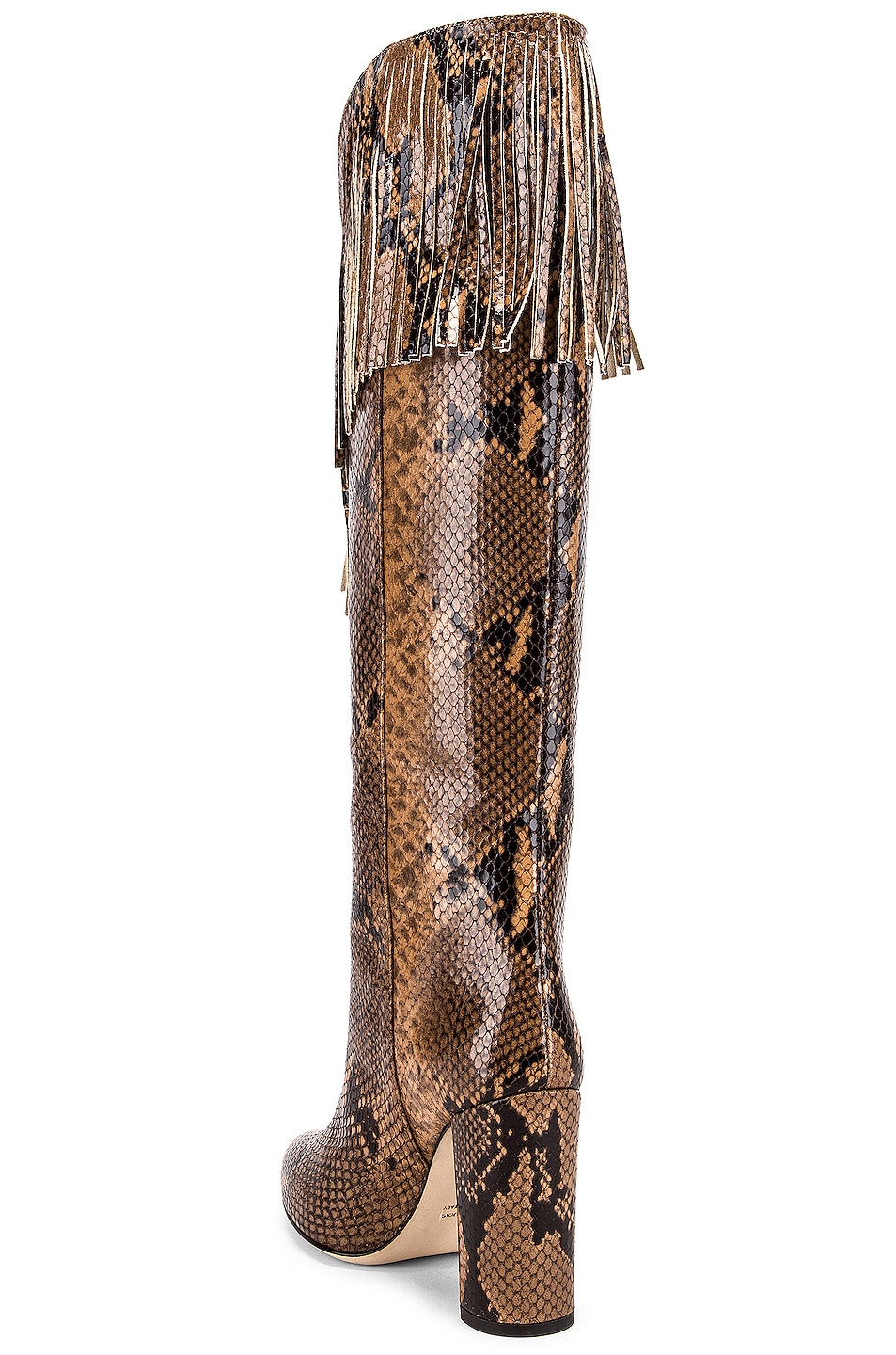 Image 3 of Paris Texas Python Western Fringe Boot in Camel