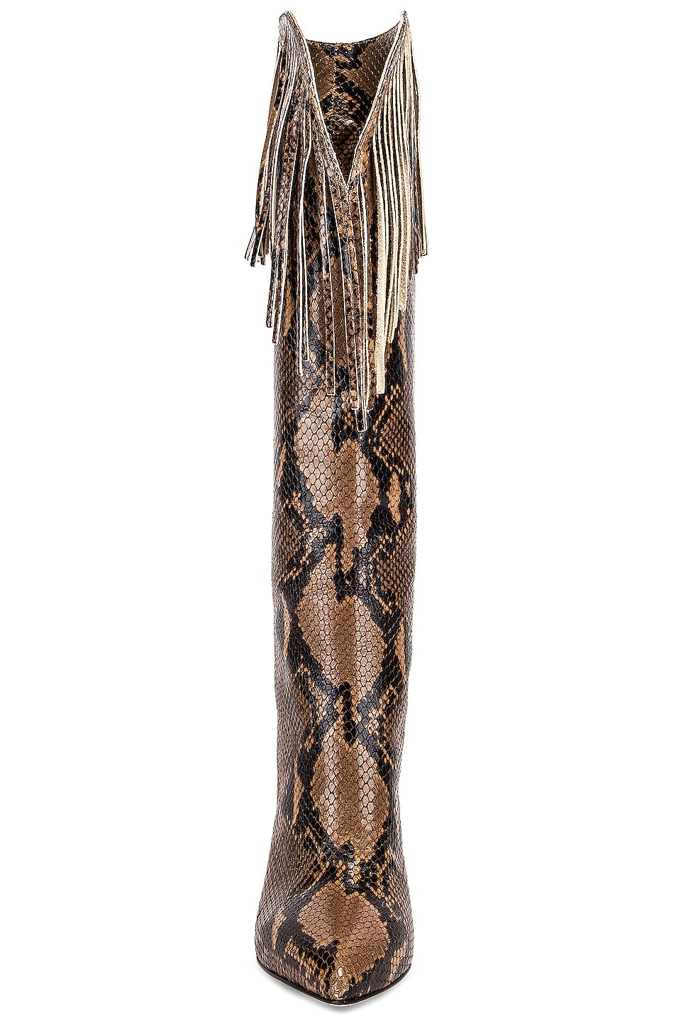 Image 4 of Paris Texas Python Western Fringe Boot in Camel