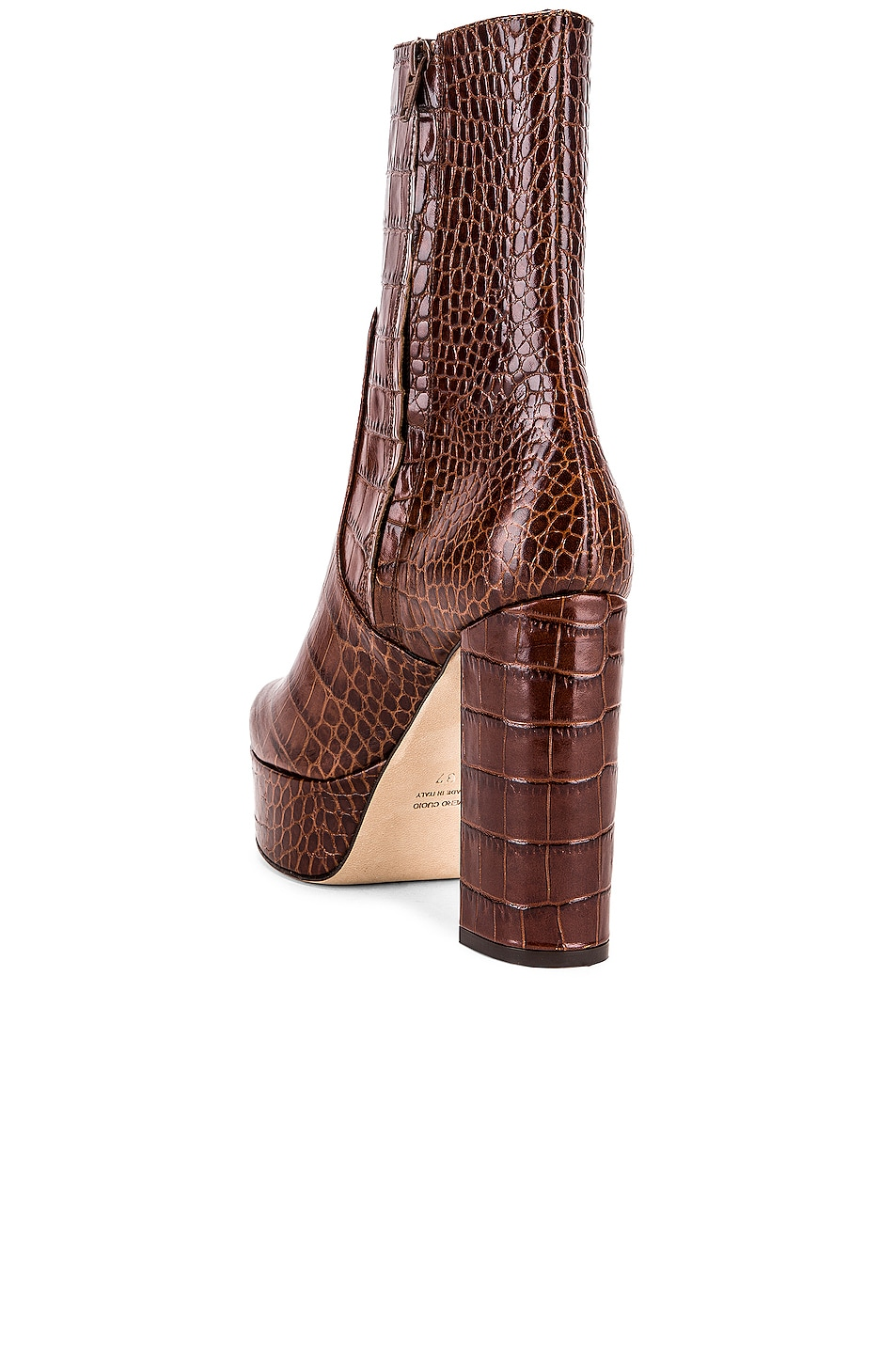 Image 3 of Paris Texas Moc Croco Platform Ankle Boots in Brown