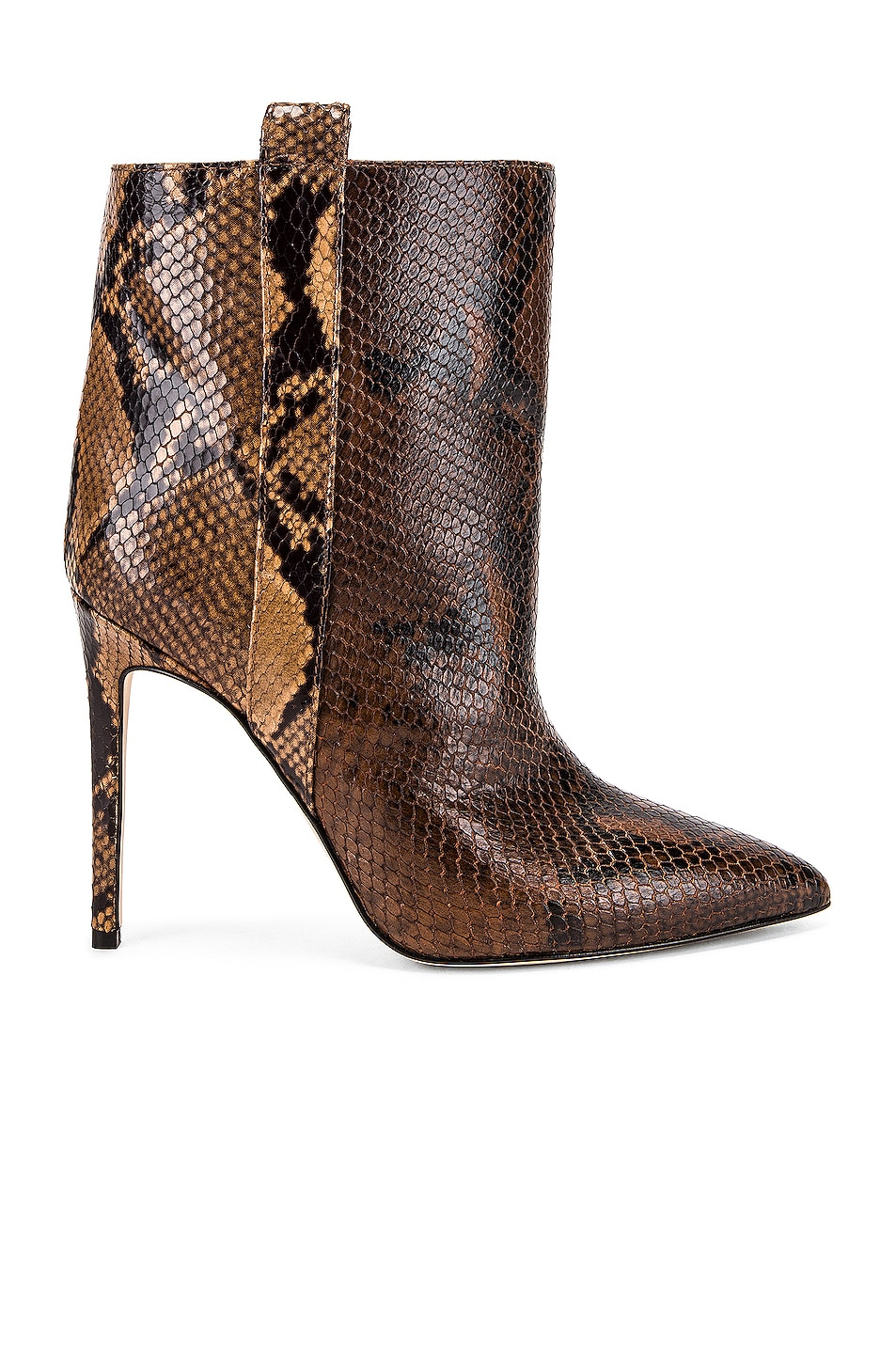 Image 1 of Paris Texas Snake Print Ankle Boot in Brown & Camel