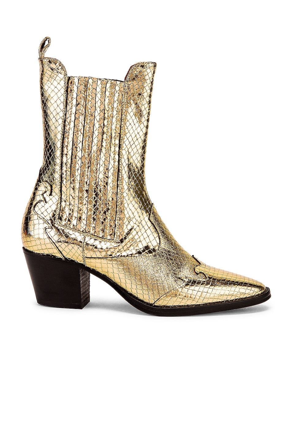 Image 1 of Paris Texas Atlanta Metallic Beatles Boot in Gold