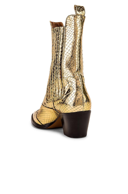 Image 3 of Paris Texas Atlanta Metallic Beatles Boot in Gold