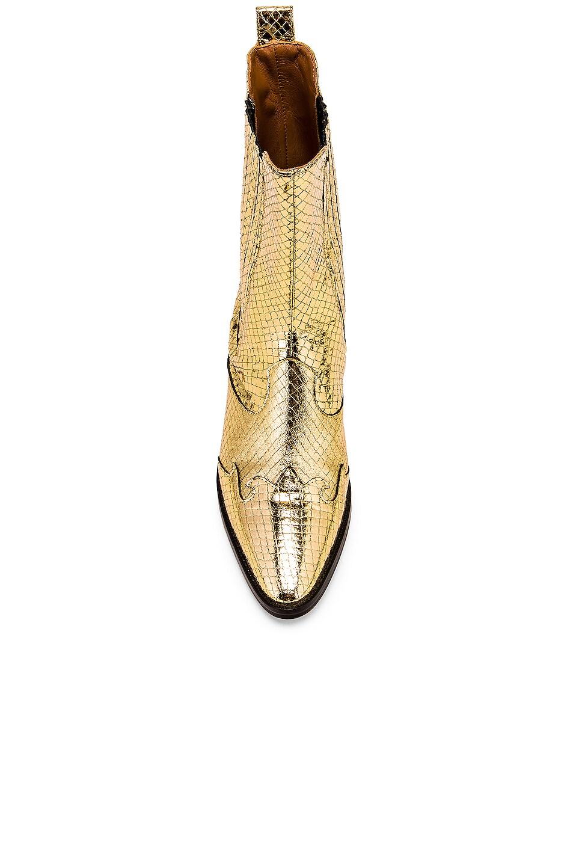 Image 4 of Paris Texas Atlanta Metallic Beatles Boot in Gold