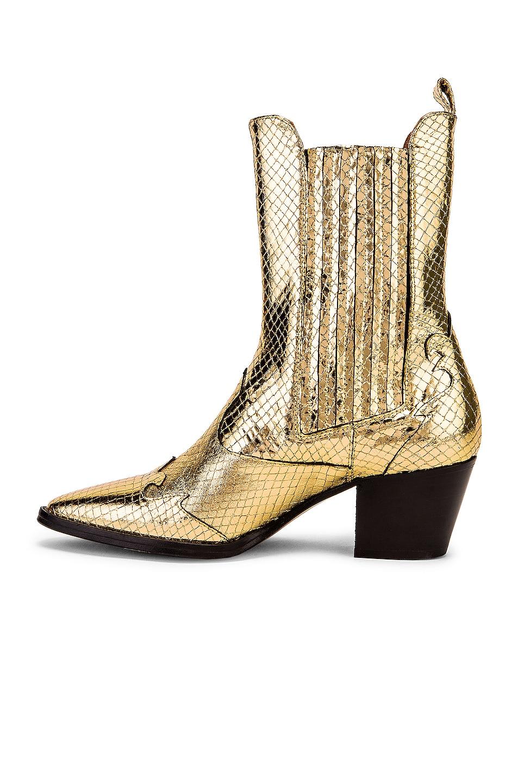 Image 5 of Paris Texas Atlanta Metallic Beatles Boot in Gold