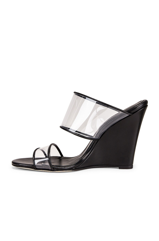 Image 5 of Paris Texas Plexi Wedge 100 Heel in Black
