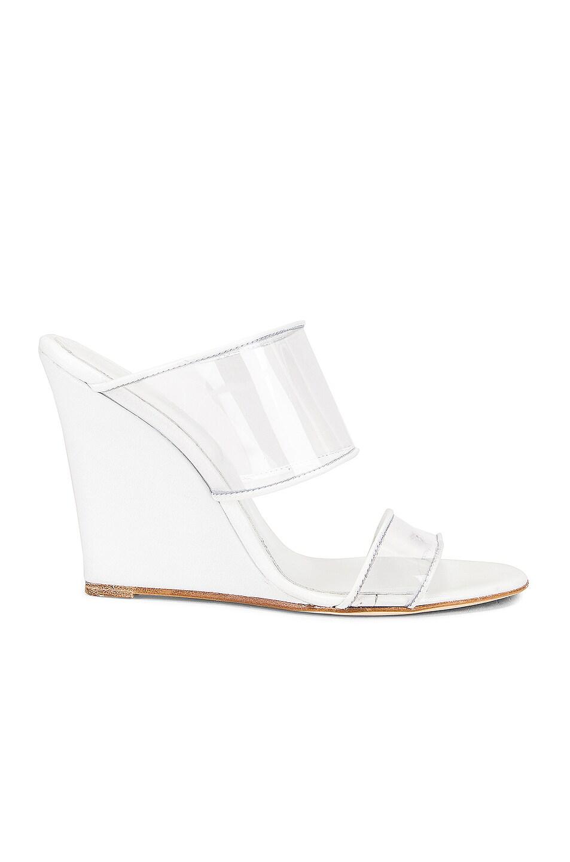 Image 1 of Paris Texas Plexi Wedge 100 Heel in White