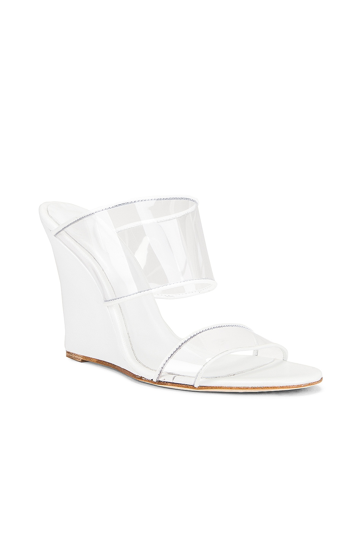 Image 2 of Paris Texas Plexi Wedge 100 Heel in White