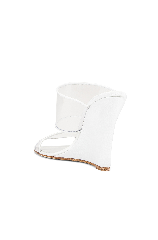 Image 3 of Paris Texas Plexi Wedge 100 Heel in White