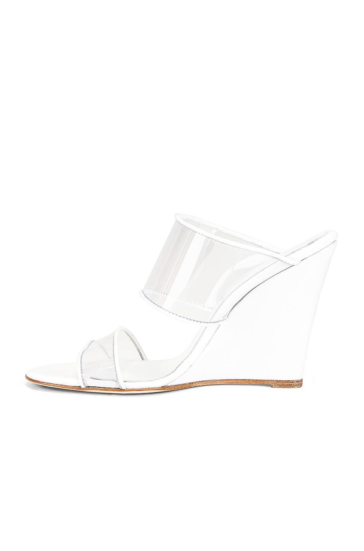 Image 5 of Paris Texas Plexi Wedge 100 Heel in White
