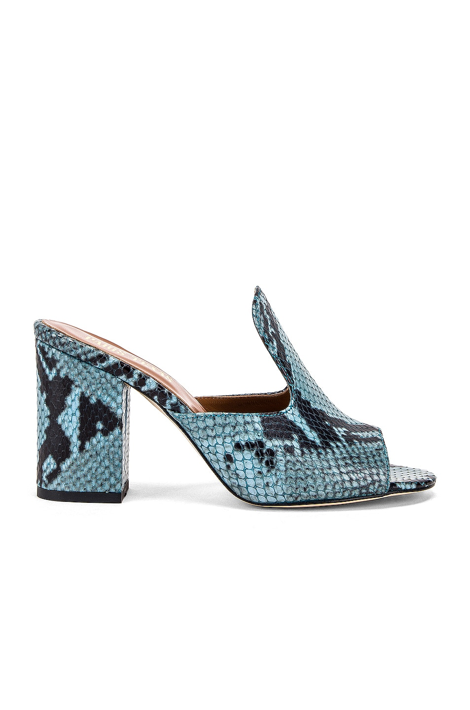Image 1 of Paris Texas Snake Mule 80 Heel in Jeans