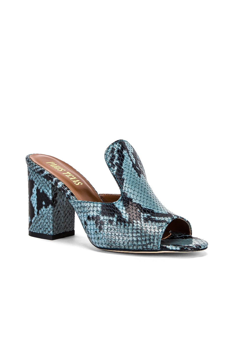 Image 2 of Paris Texas Snake Mule 80 Heel in Jeans