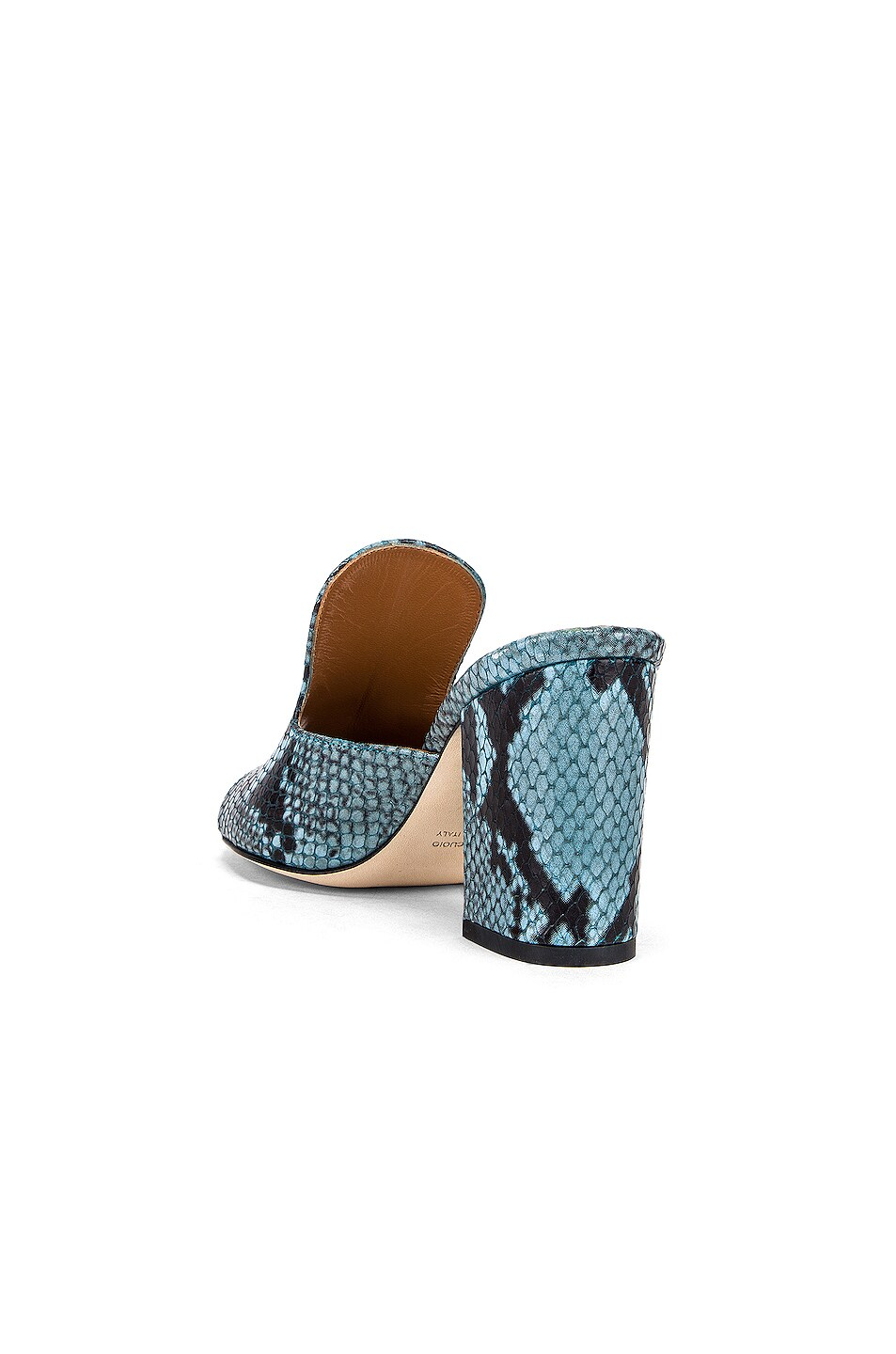 Image 3 of Paris Texas Snake Mule 80 Heel in Jeans