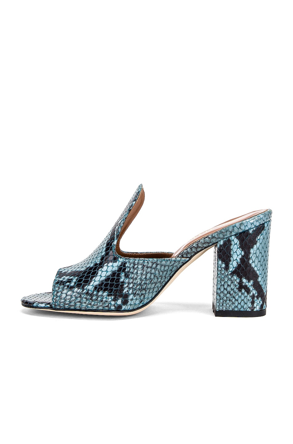 Image 5 of Paris Texas Snake Mule 80 Heel in Jeans