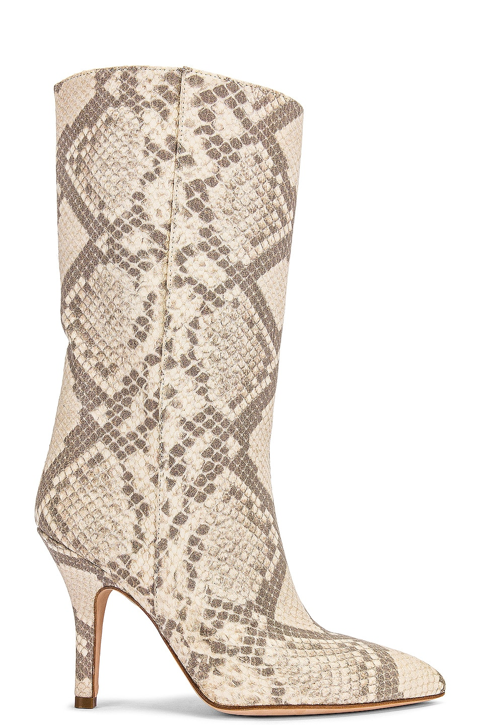 Image 1 of Paris Texas Python Print Nubuck Midi Boot in Natural
