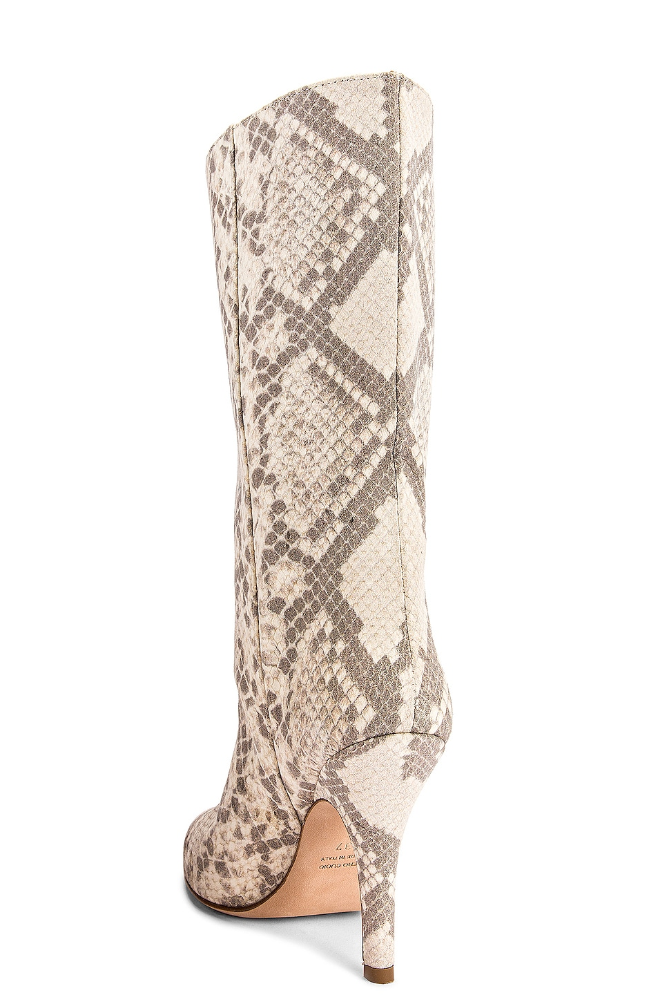 Image 3 of Paris Texas Python Print Nubuck Midi Boot in Natural