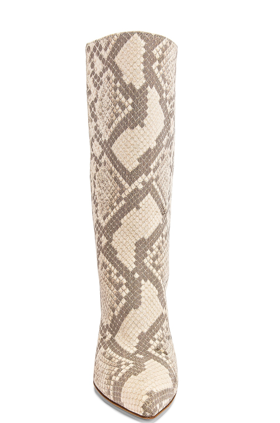 Image 4 of Paris Texas Python Print Nubuck Midi Boot in Natural