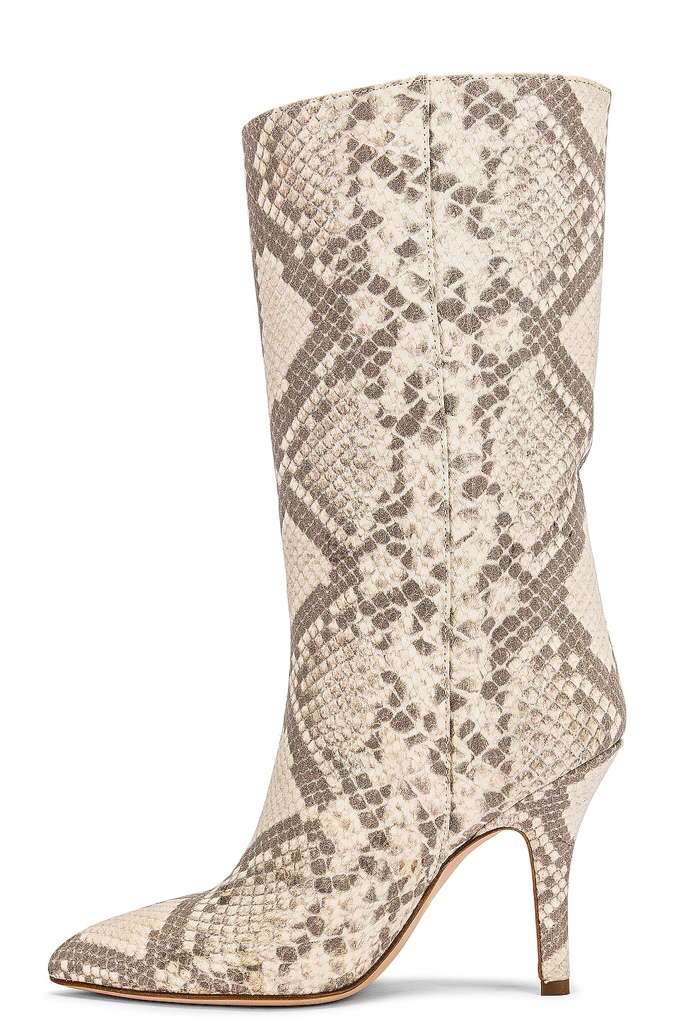 Image 5 of Paris Texas Python Print Nubuck Midi Boot in Natural