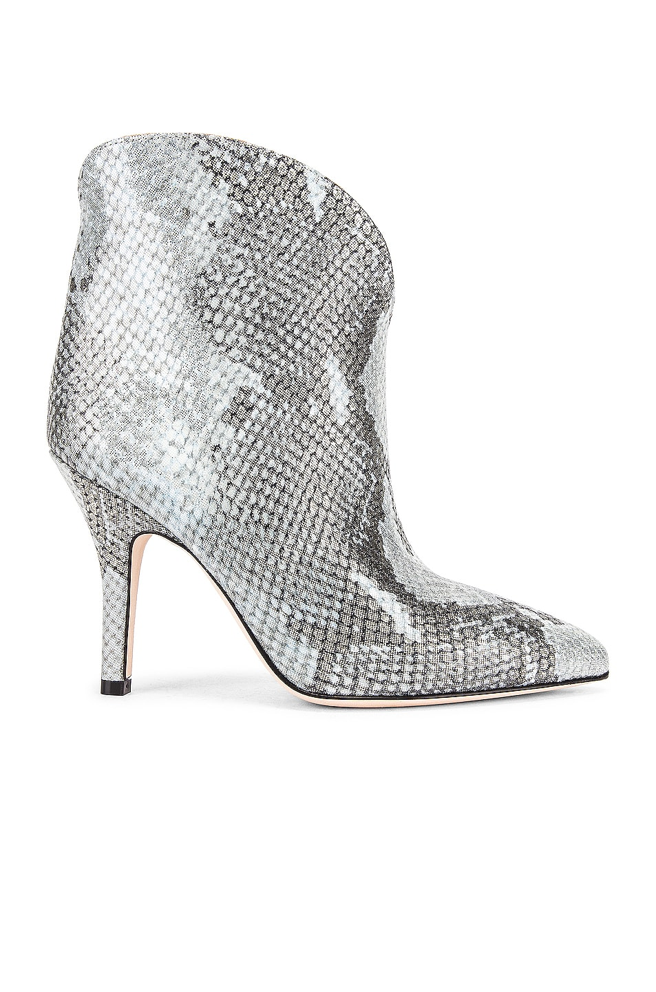 Image 1 of Paris Texas Python Lame Print Rounded Print Stiletto Ankle Boot in Light Blue