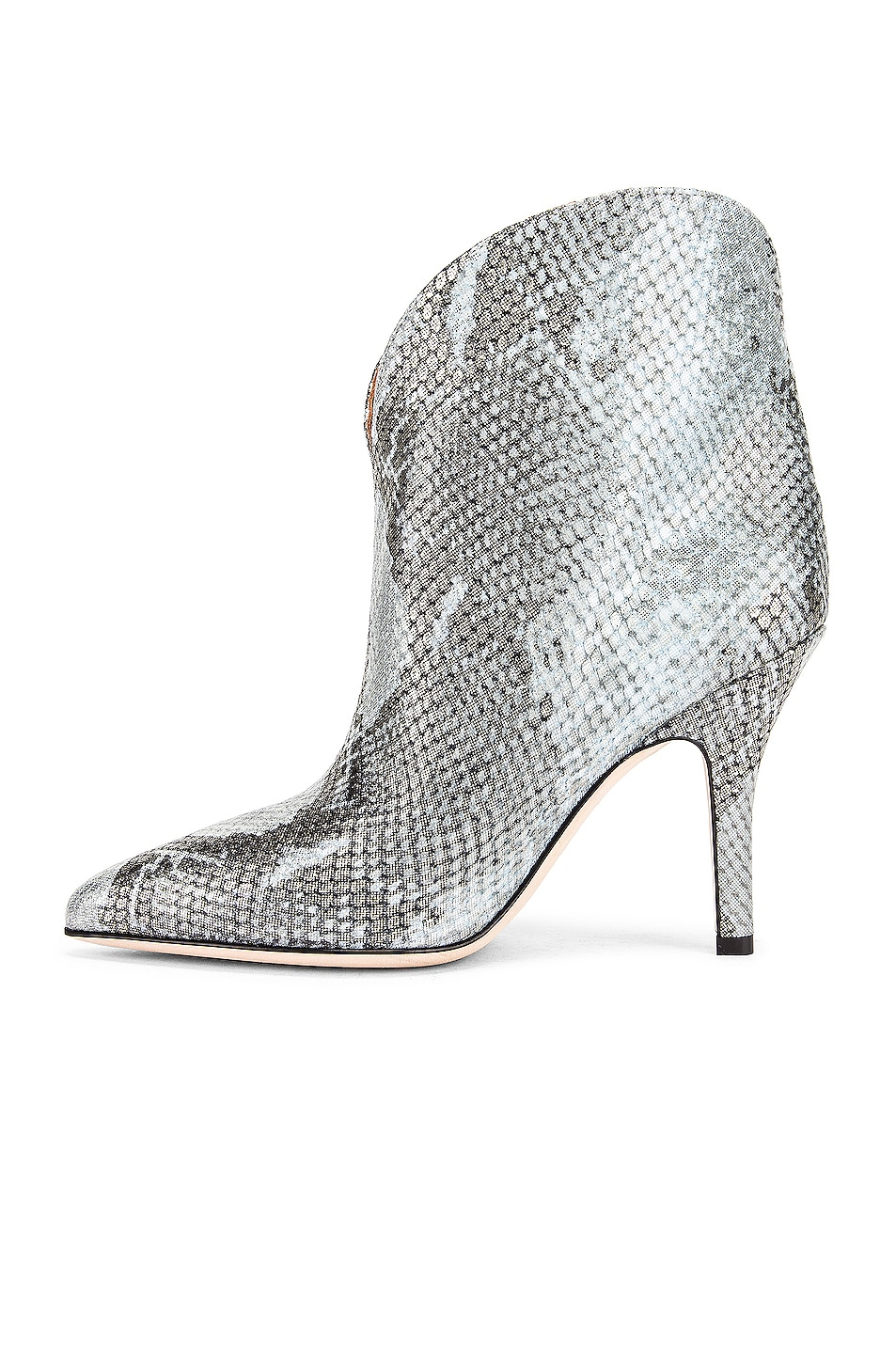 Image 5 of Paris Texas Python Lame Print Rounded Print Stiletto Ankle Boot in Light Blue