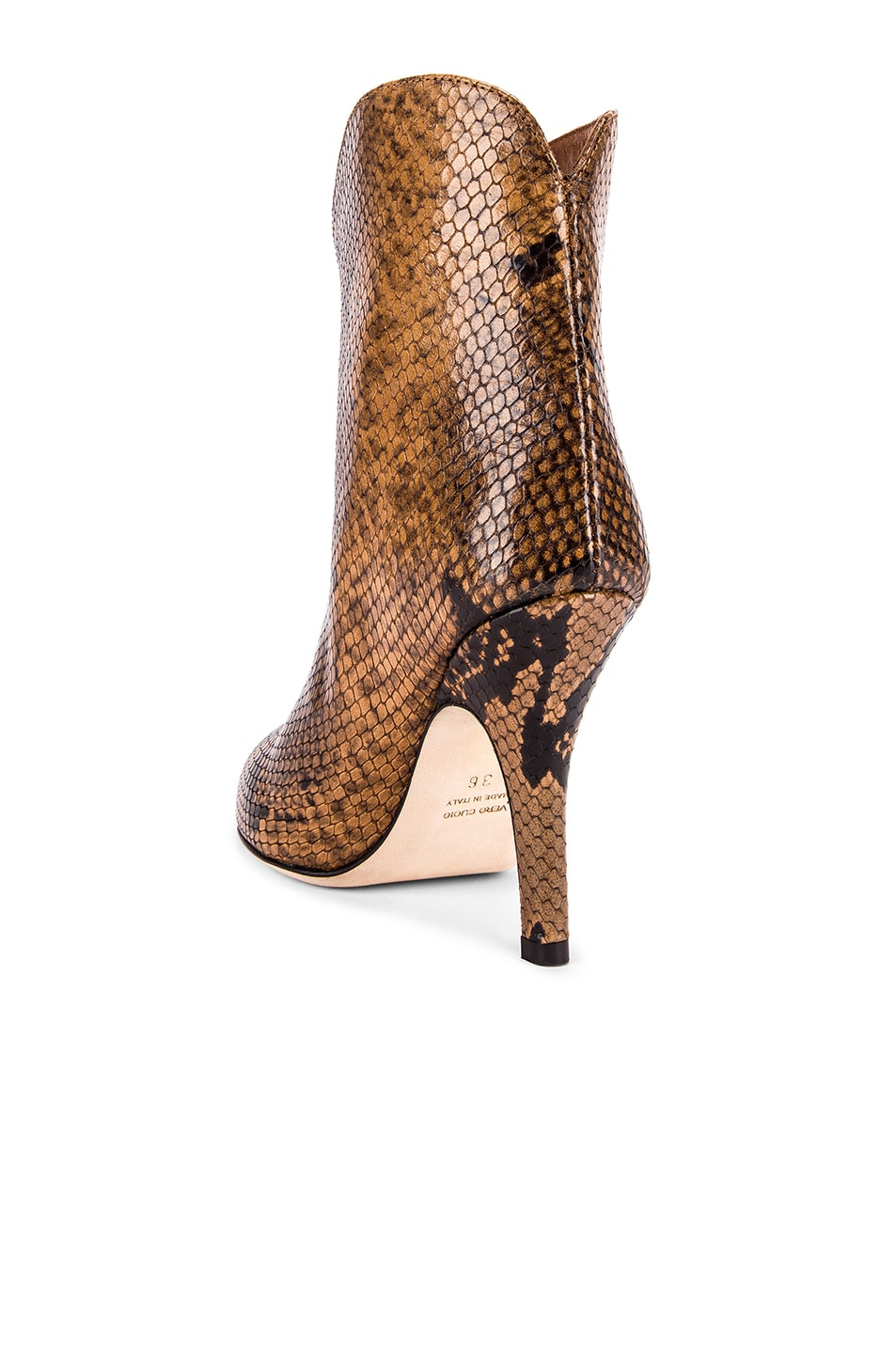 Image 3 of Paris Texas Python Print Ankle Boot in Camel