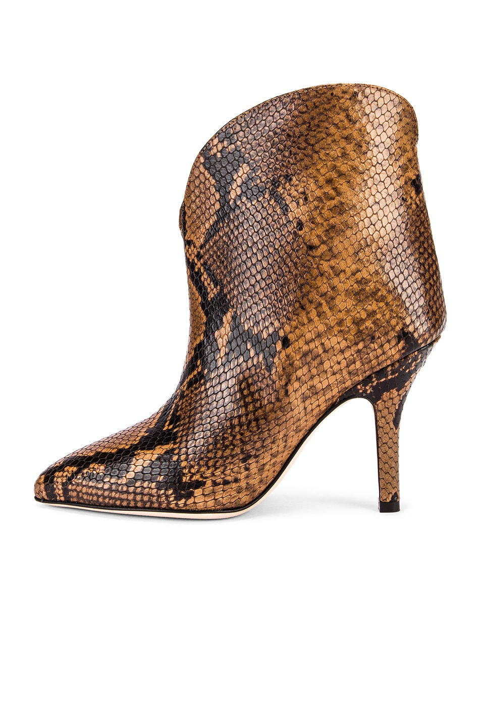 Image 5 of Paris Texas Python Print Ankle Boot in Camel