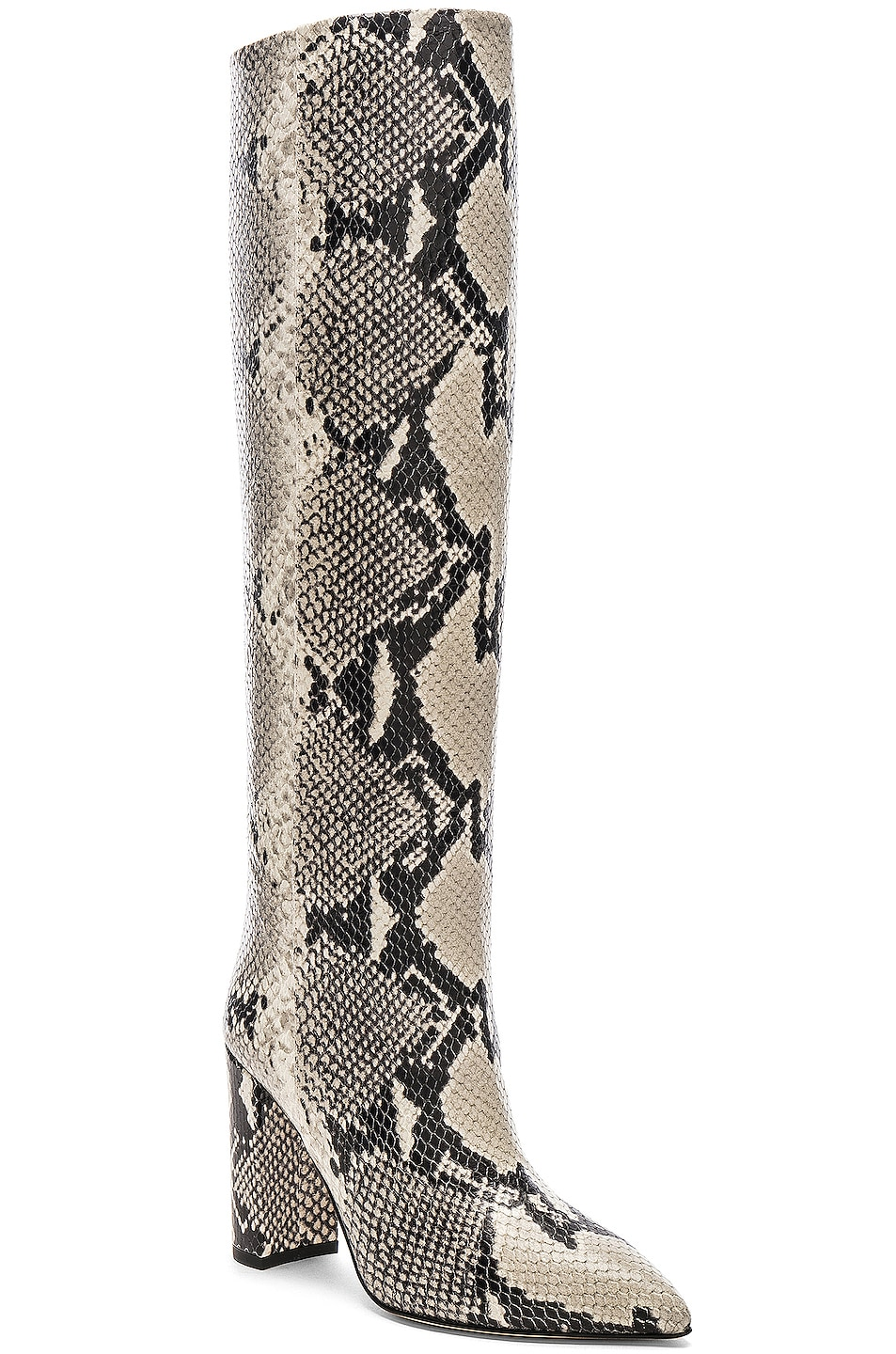 Image 2 of Paris Texas Knee High Boot in Natural Snake