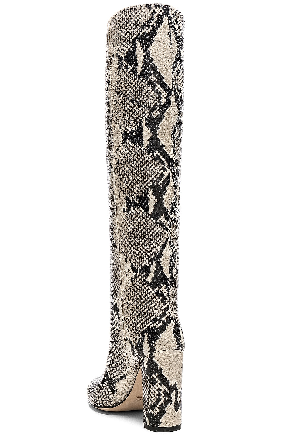 Image 3 of Paris Texas Knee High Python Print Boot in Natural