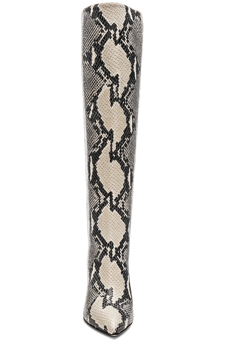Image 4 of Paris Texas Knee High Python Print Boot in Natural