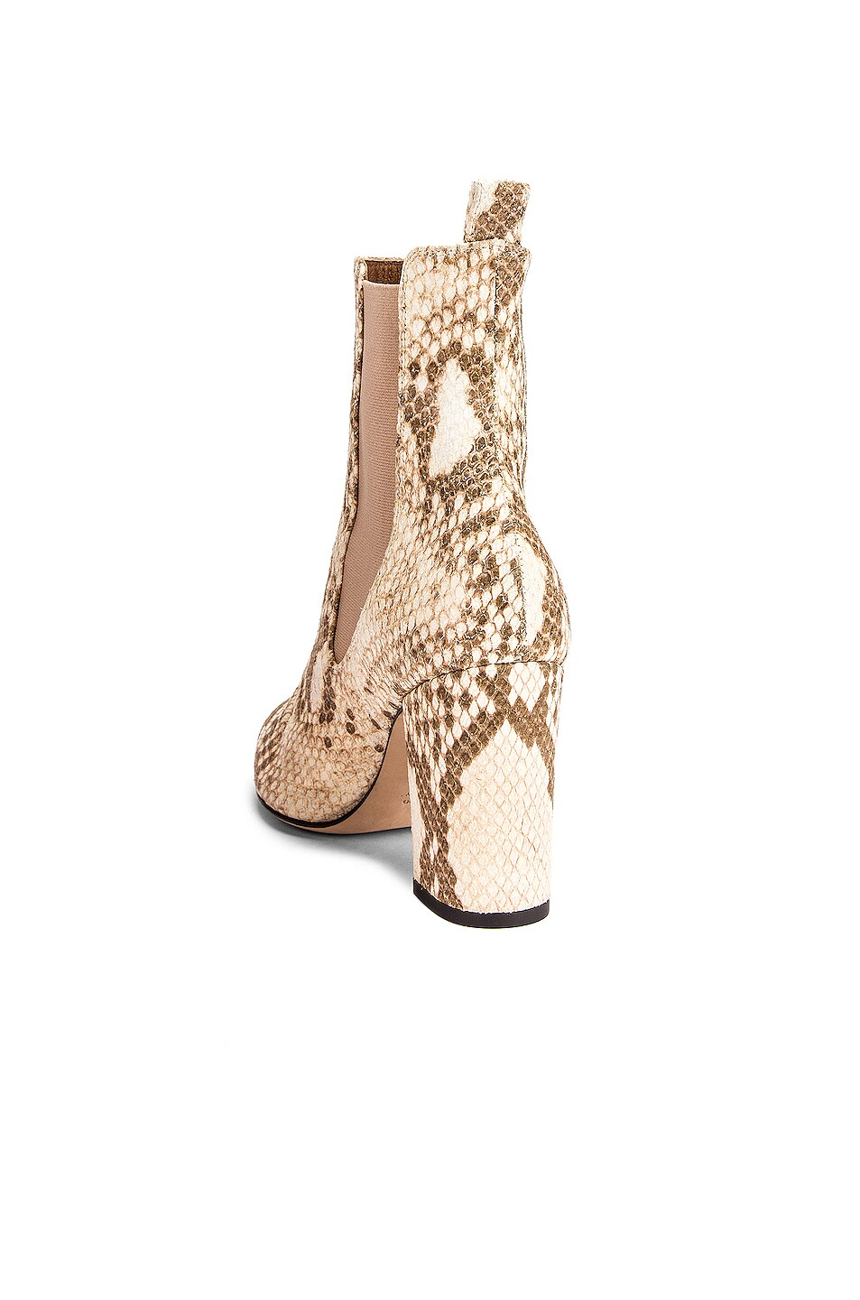 Image 3 of Paris Texas Faded Python Print Ankle Boot in Faded Milk