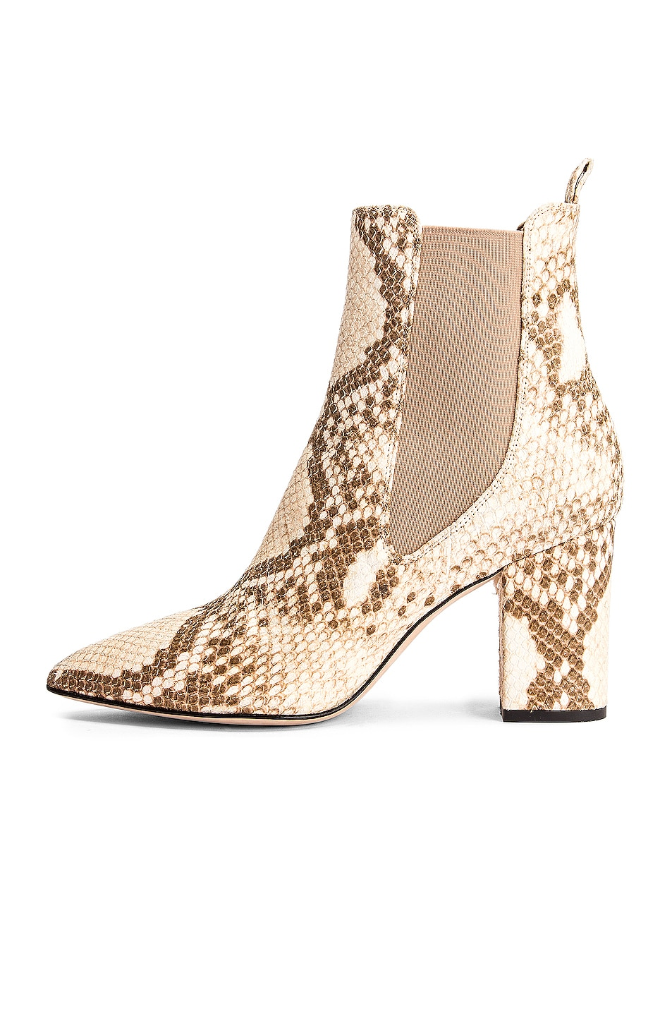 Image 5 of Paris Texas Faded Python Print Ankle Boot in Faded Milk