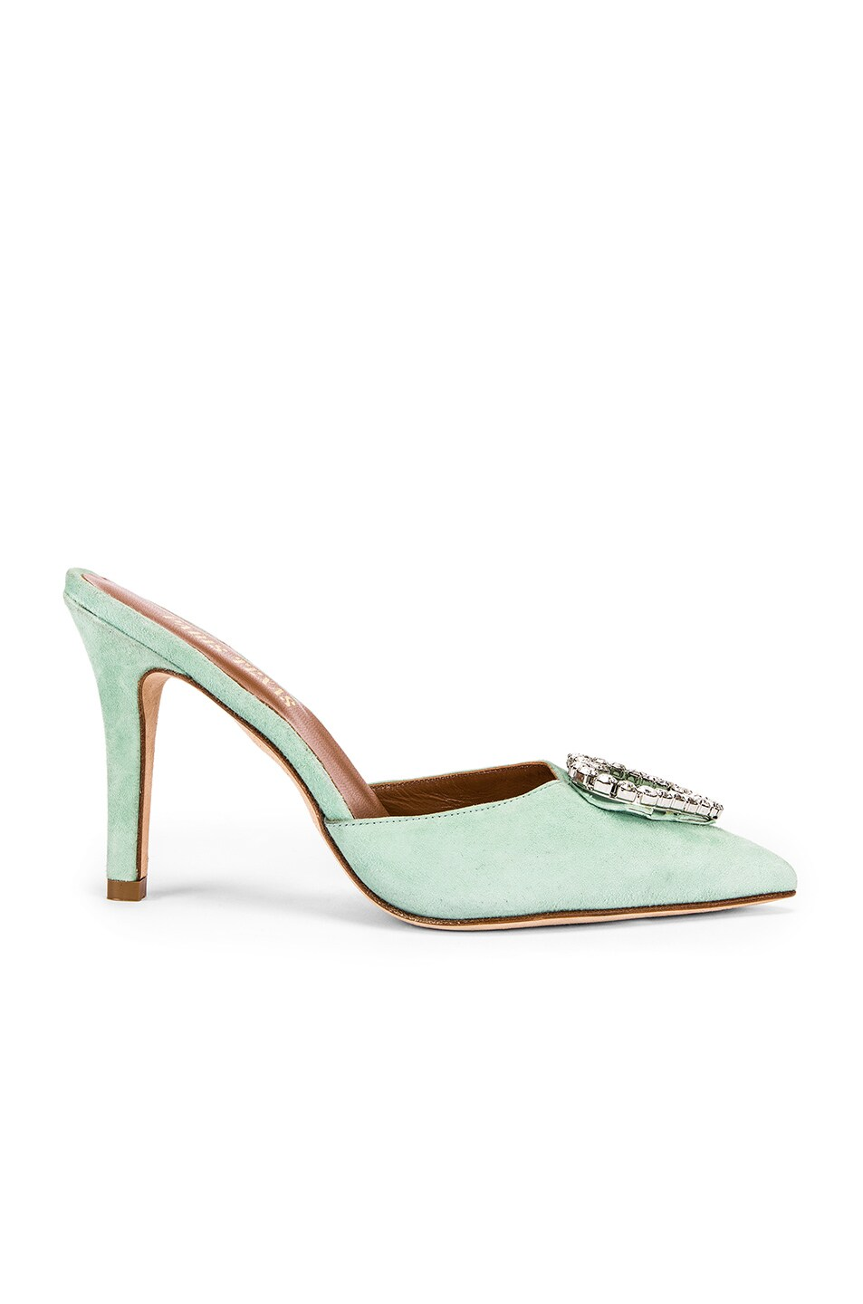 Image 2 of Paris Texas Crystal and Suede Stiletto Mule in Mint