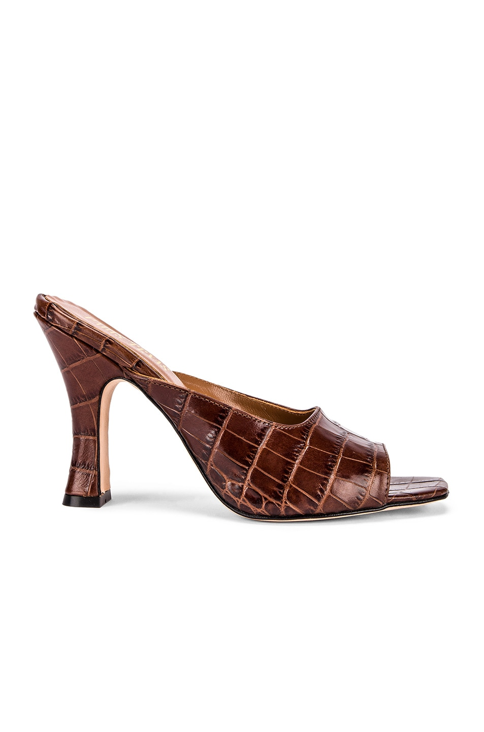 Image 1 of Paris Texas Moc Croco Square Toe Mule in Brown