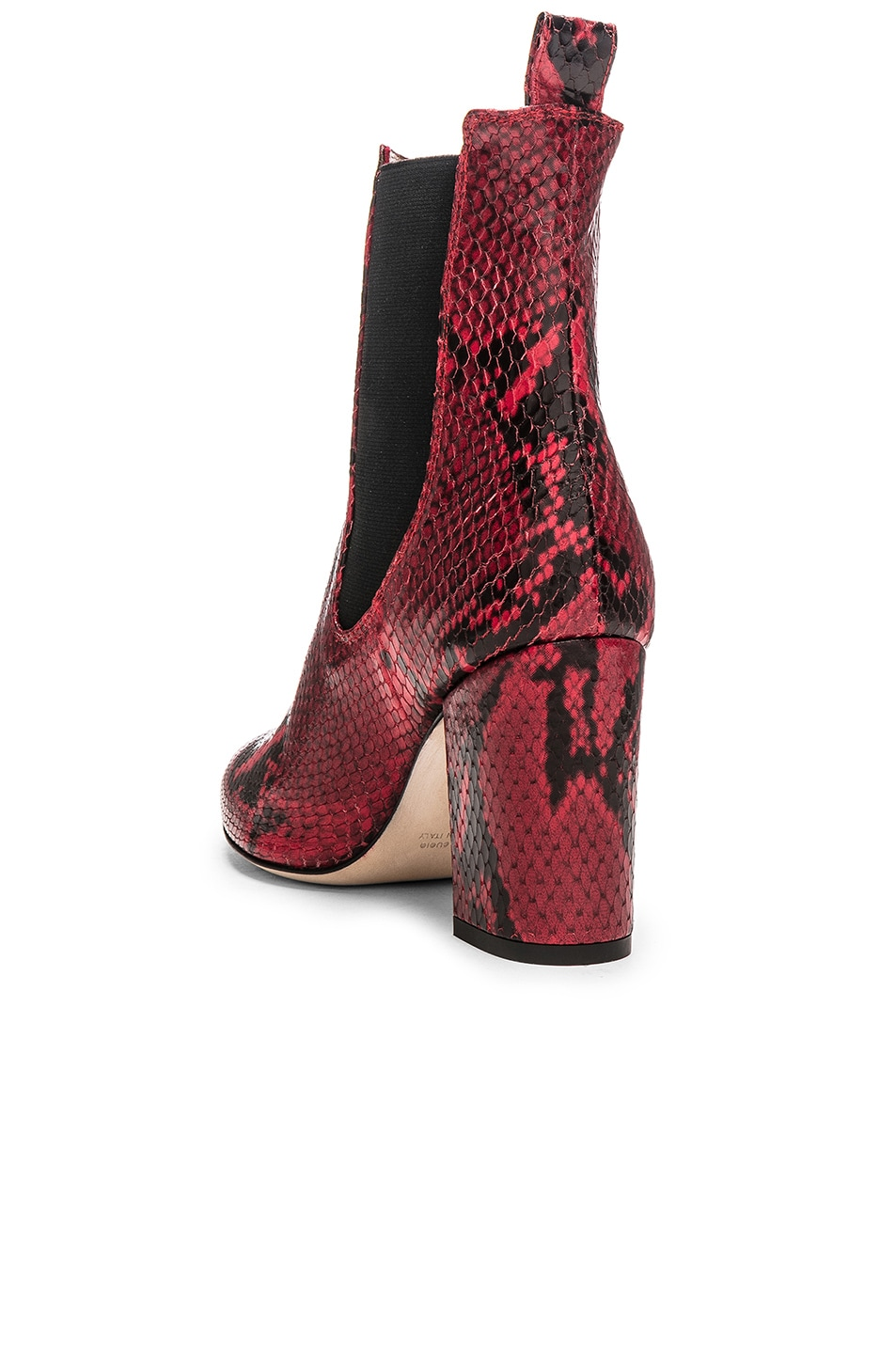 Image 3 of Paris Texas Ankle Boot in Red Snake