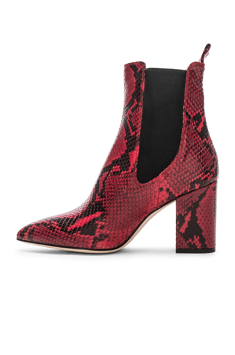 Image 5 of Paris Texas Python Print Ankle Boot in Red