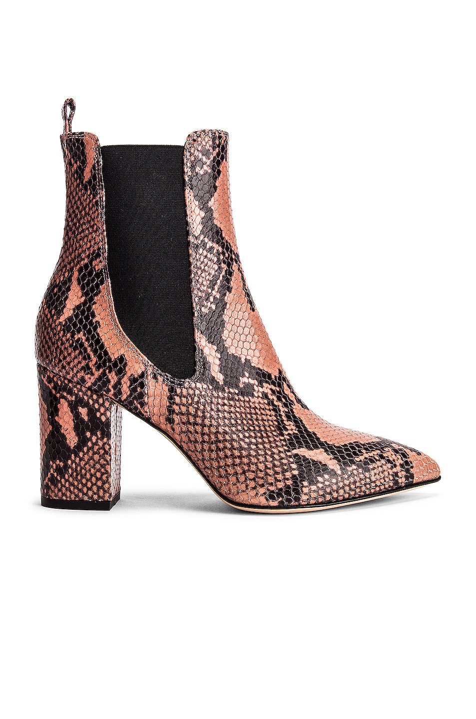 Image 1 of Paris Texas Python Print Ankle Boot in Blush