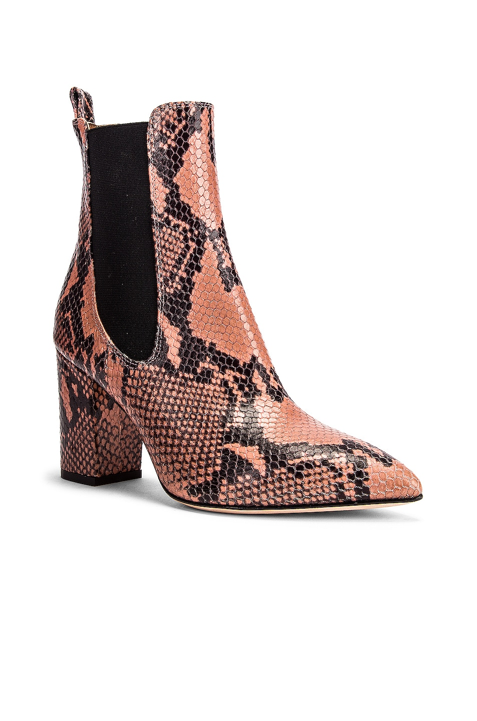 Image 2 of Paris Texas Python Print Ankle Boot in Blush
