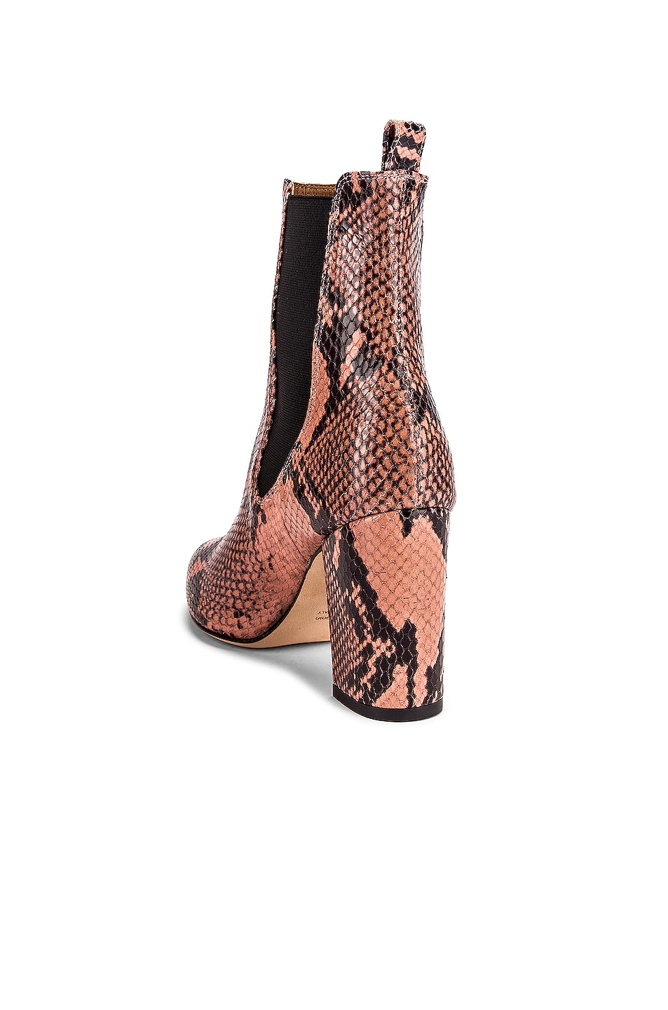 Image 3 of Paris Texas Python Print Ankle Boot in Blush