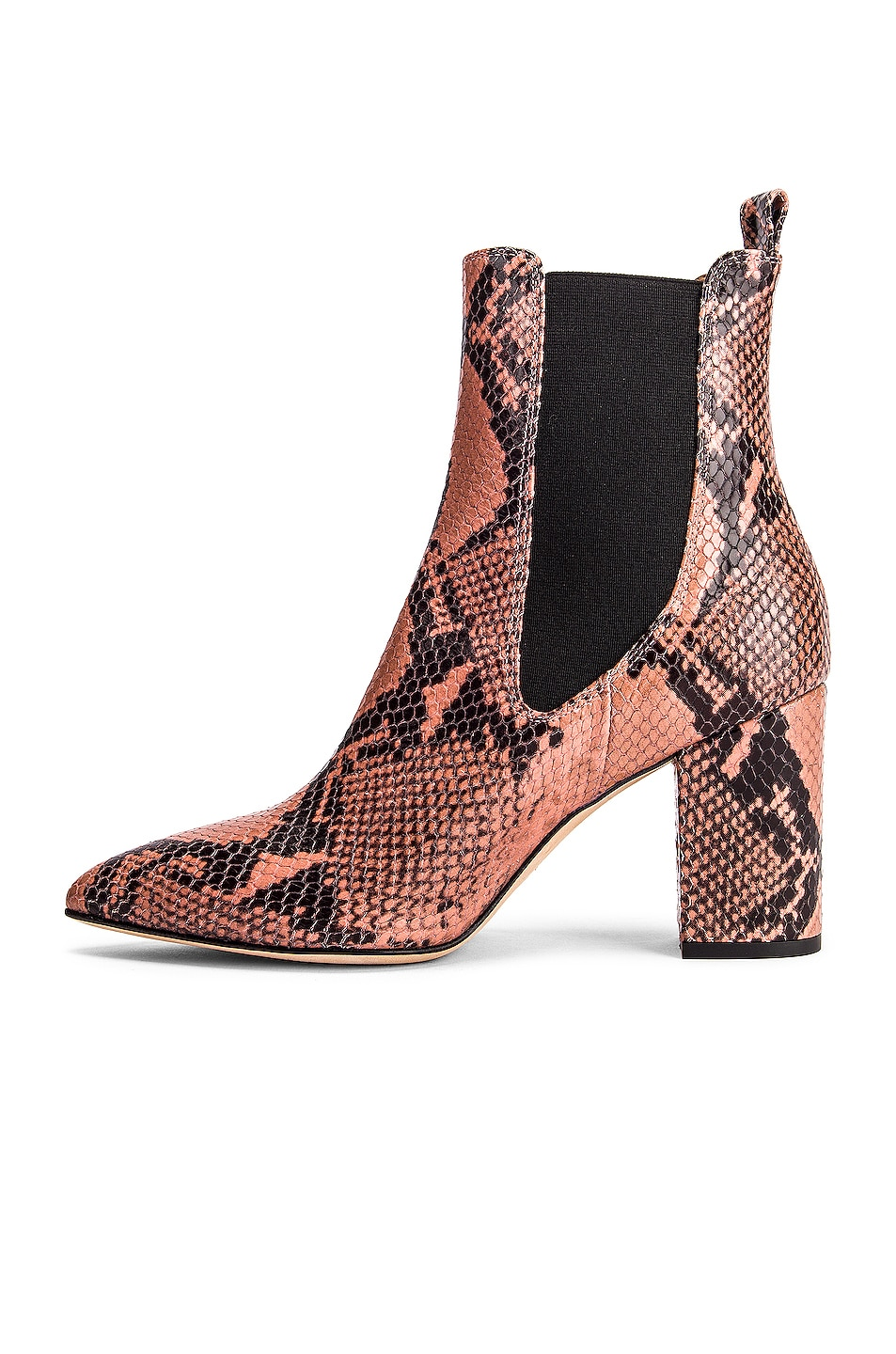 Image 5 of Paris Texas Python Print Ankle Boot in Blush