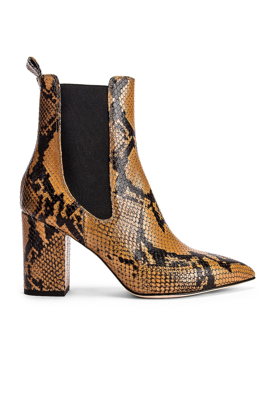 Image 1 of Paris Texas Python Print Ankle Boot in Camel
