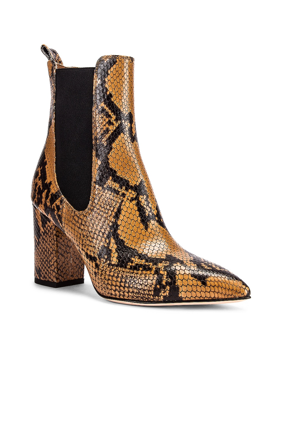 Image 2 of Paris Texas Python Print Ankle Boot in Camel