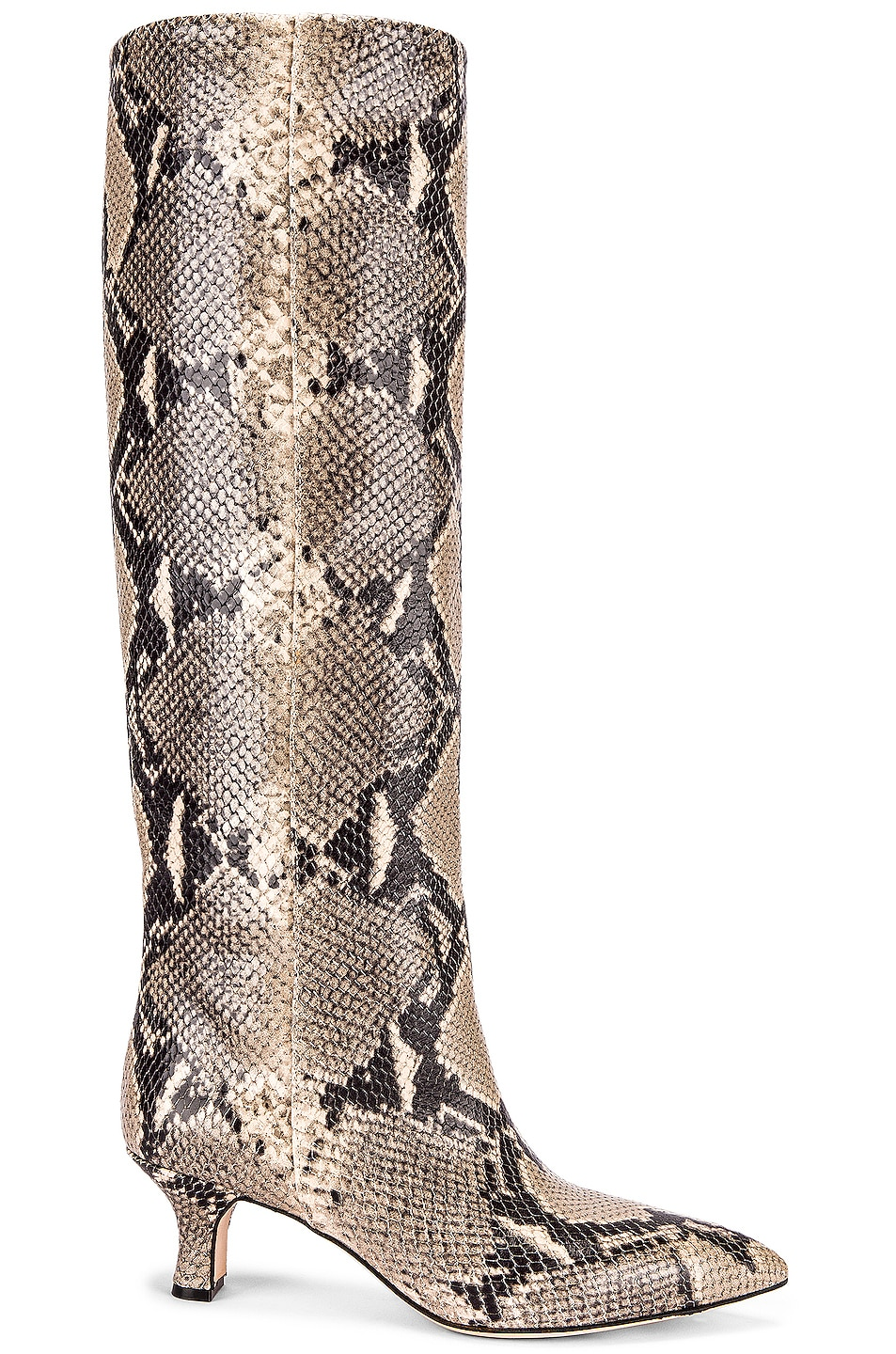 Image 1 of Paris Texas Python Print Boot in New Natural
