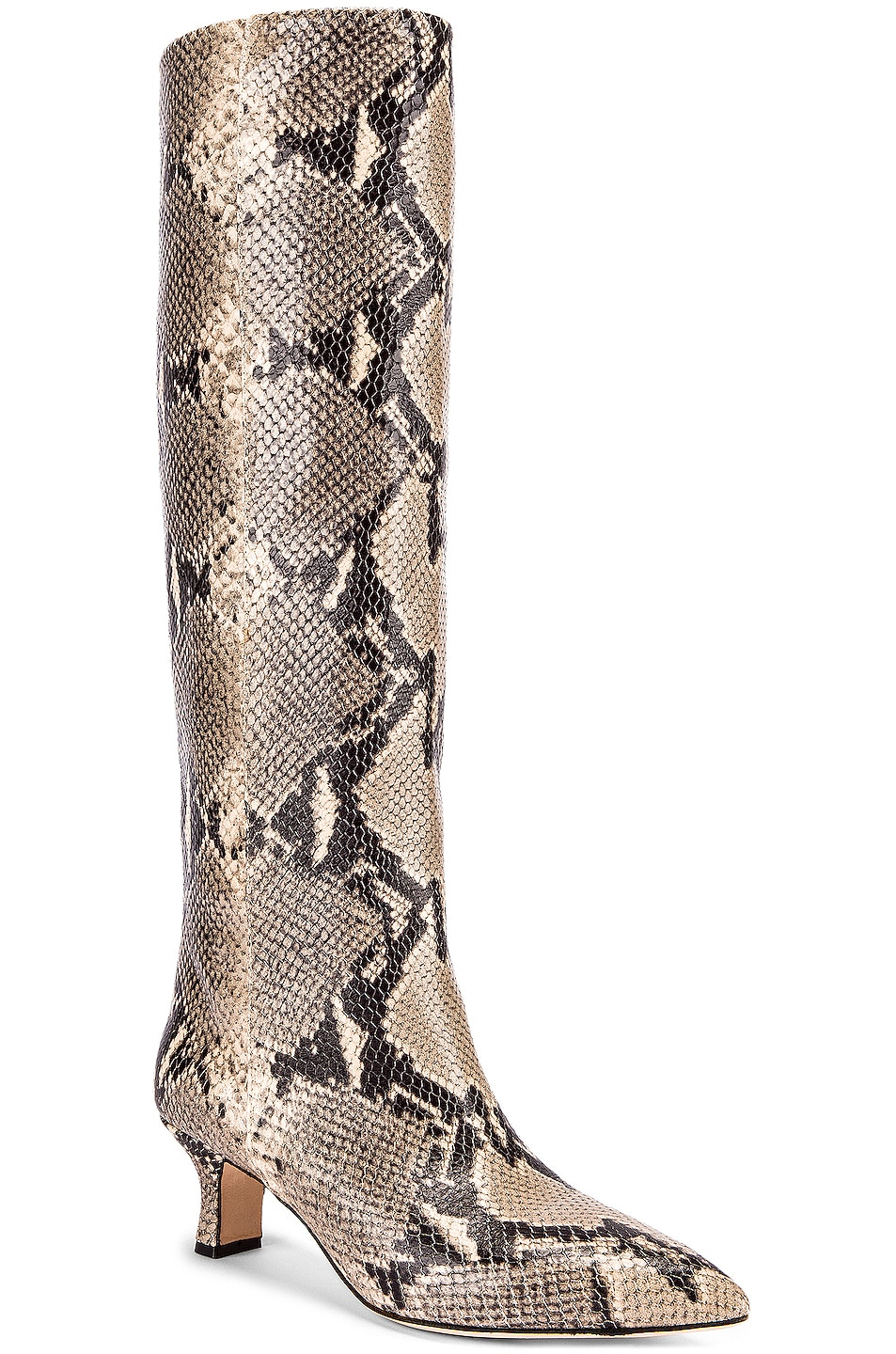 Image 2 of Paris Texas Python Print Boot in New Natural
