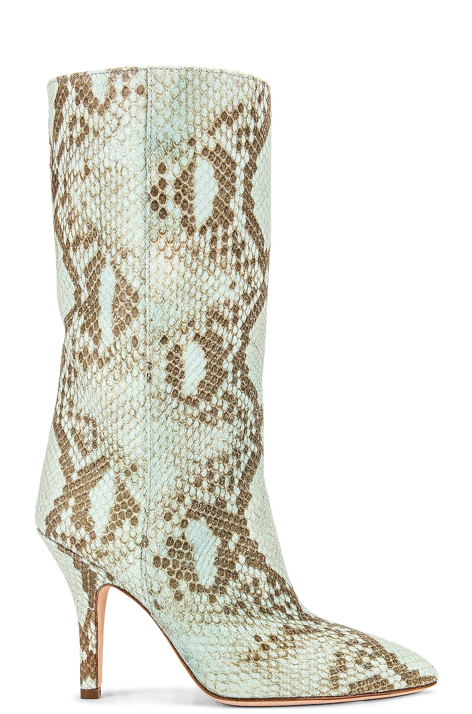 Image 1 of Paris Texas Faded Python Print Midi Boot in Light Blue