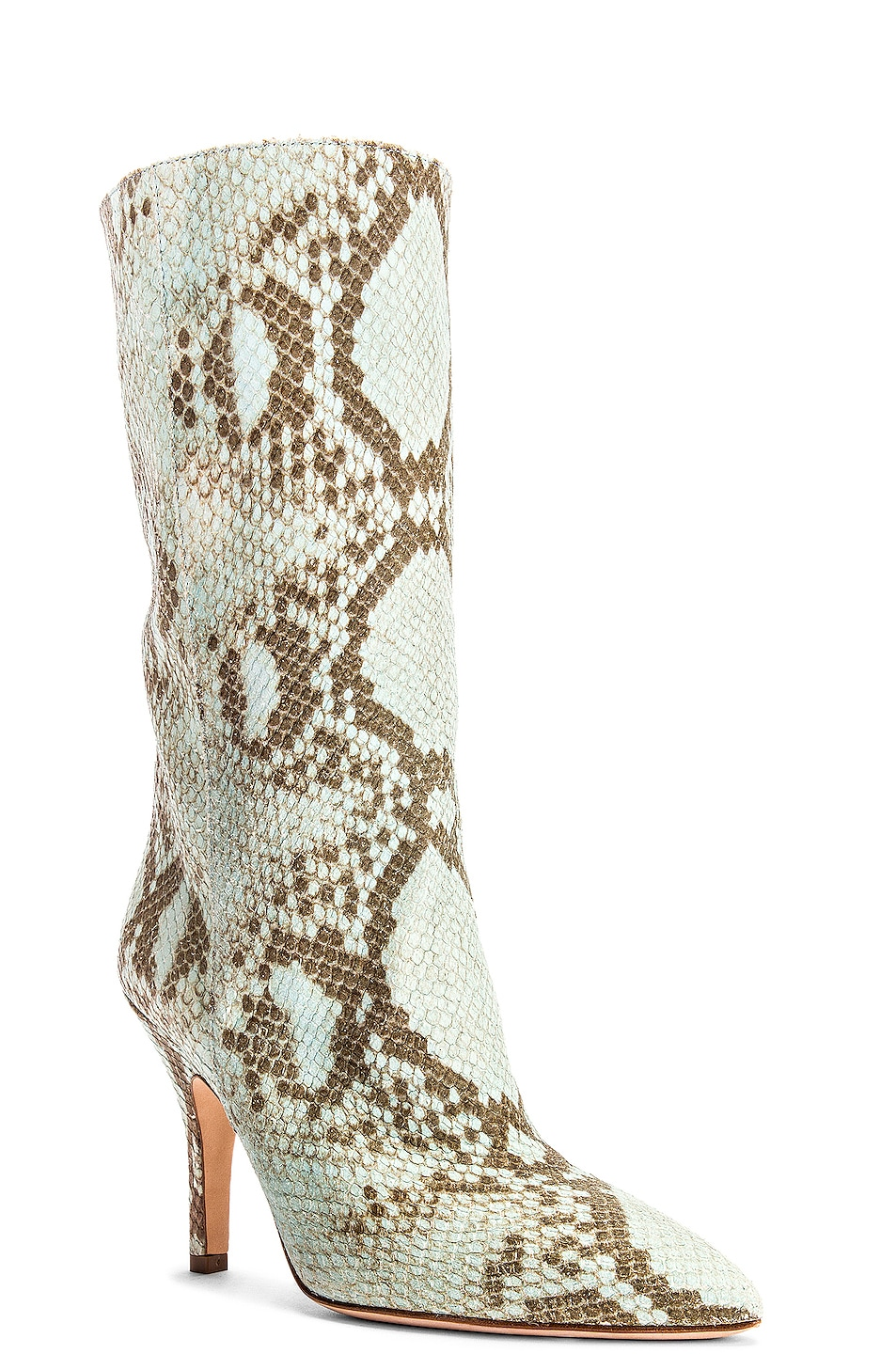 Image 2 of Paris Texas Faded Python Print Midi Boot in Light Blue