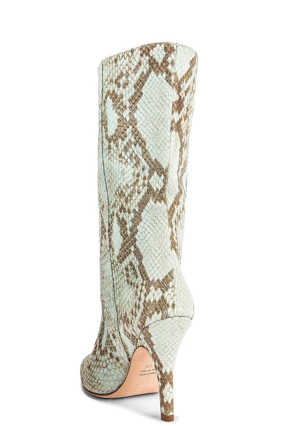 Image 3 of Paris Texas Faded Python Print Midi Boot in Light Blue