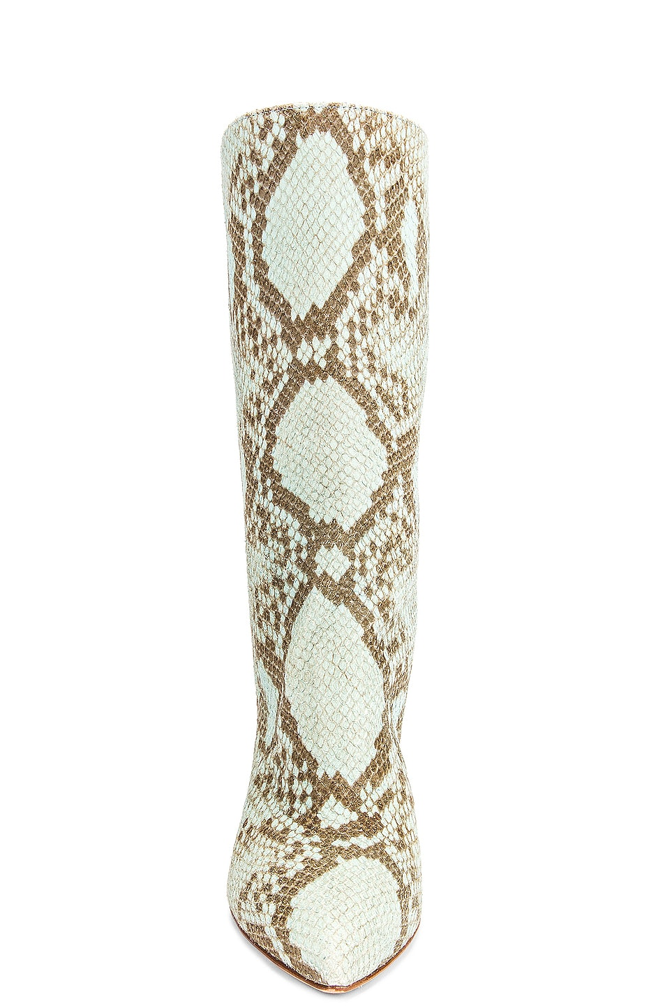 Image 4 of Paris Texas Faded Python Print Midi Boot in Light Blue