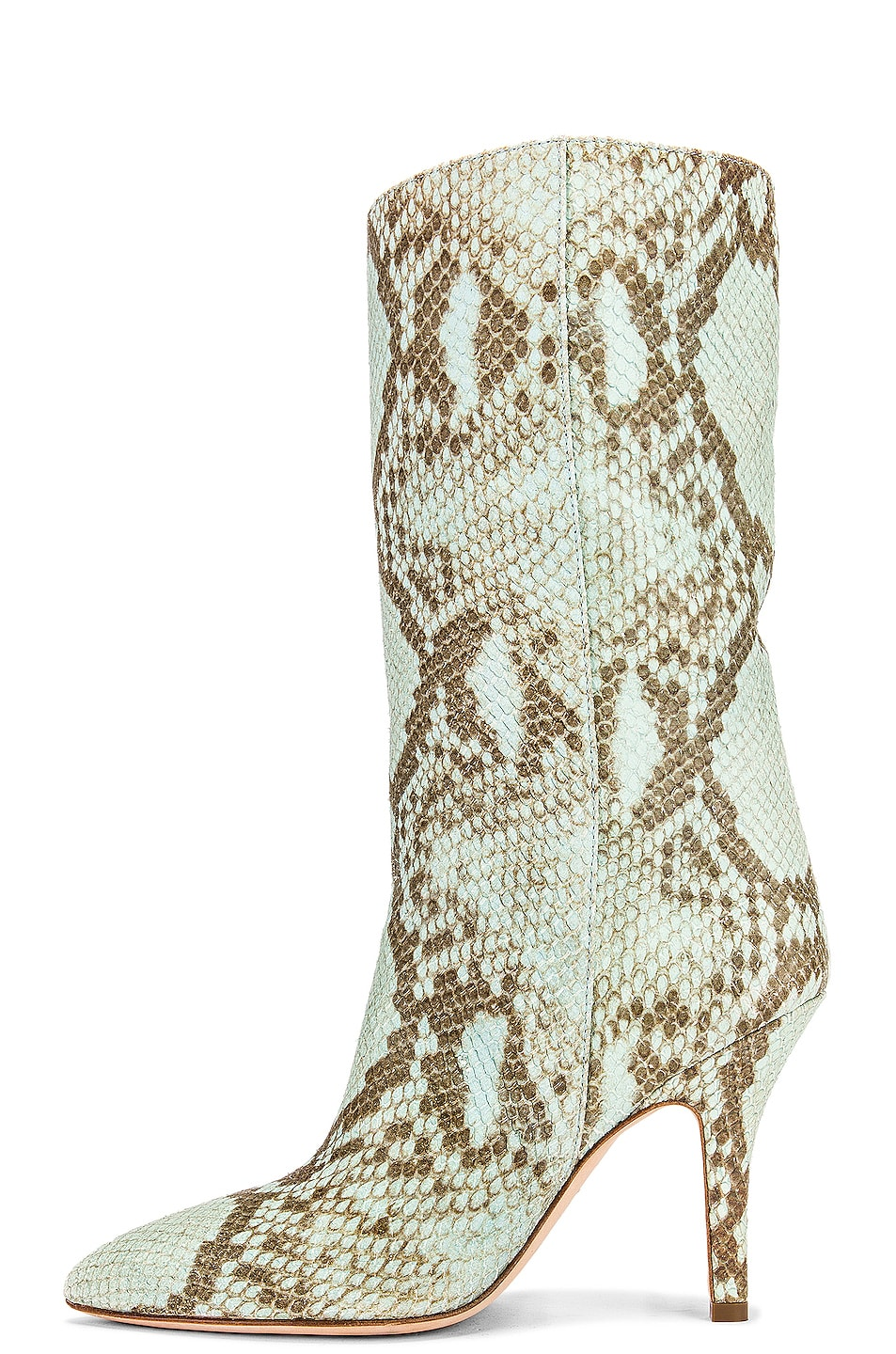 Image 5 of Paris Texas Faded Python Print Midi Boot in Light Blue