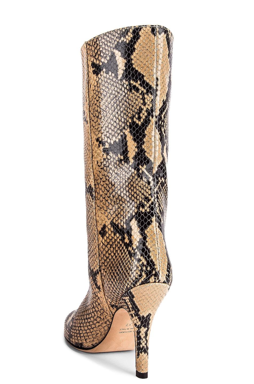 Image 3 of Paris Texas Python Print Midi Boot in Beige