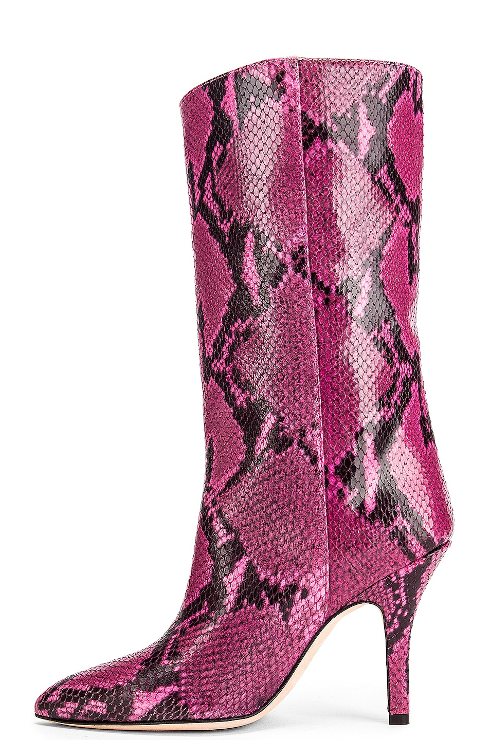 Image 5 of Paris Texas Python Print Midi Boot in Fuchsia