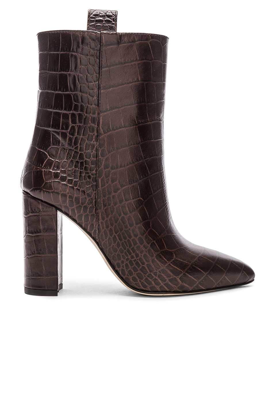 Image 1 of Paris Texas Ankle Boot in Dark Brown Croc